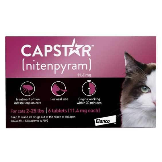 capstar-for-cats-oral-flea-treatment-veterinary-medications-pure-life-pharmacy-foley-alabama